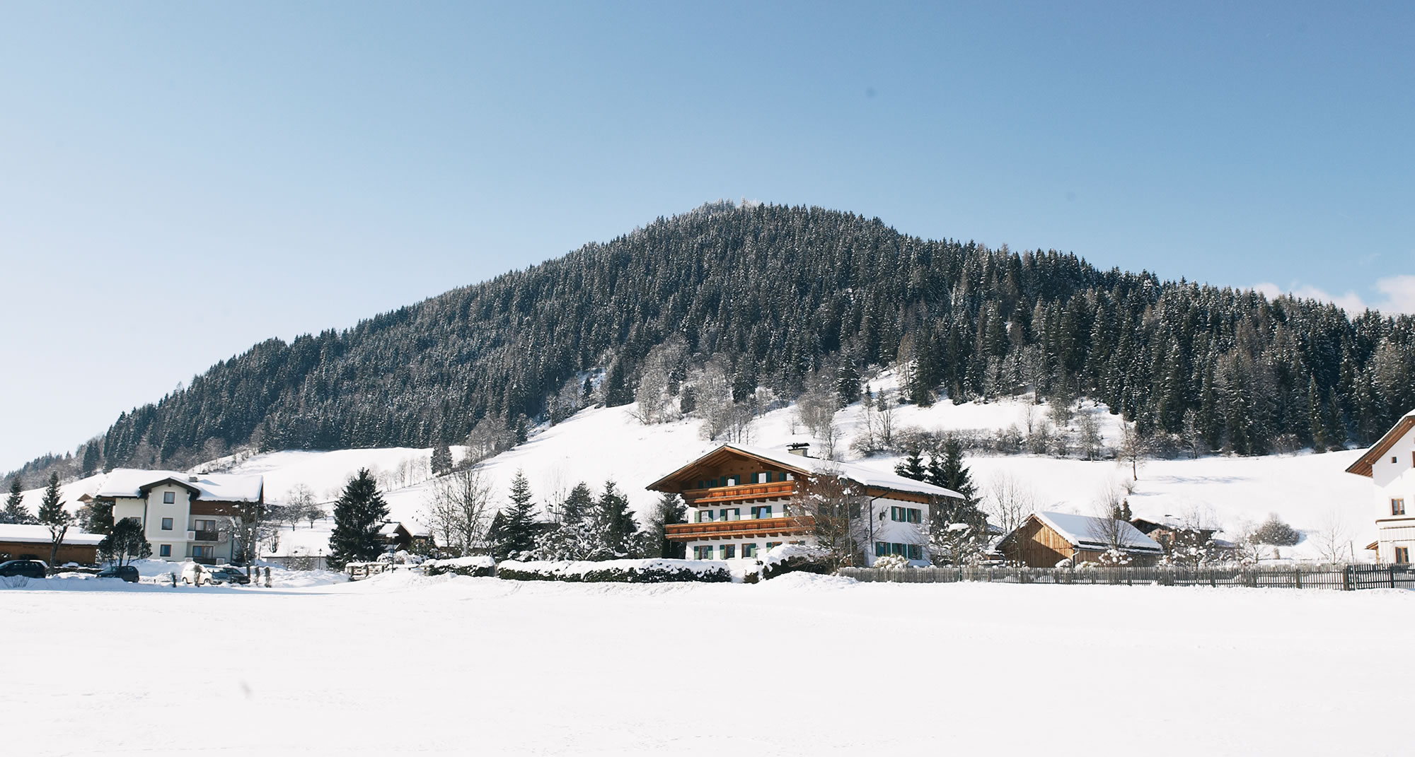 Landhaus Thurner im Winter in Flachau